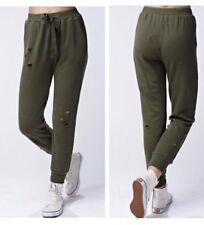 Honey Punch Olive Green Distressed Sweatpants Size S