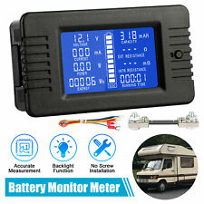 LCD Digital Display DC Battery Monitor Volt Meter 0-200V Voltmeter For Car Solar
