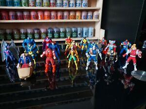 Lot of 19 die-cast Marvel X-Men steel mutants vintage models