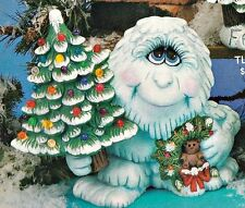 CERAMIC BISQUE LARGE ABOMINABLE SNOWMAN WITH CHRISTMAS TREE~READY TO PAINT