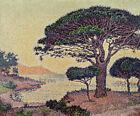 Umbrella Pines At Caroubiers Paul Signac Fine Art Canvas Print Giclee Poster SM