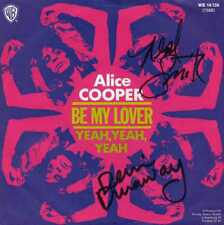 "ALICE COOPER ""BE MY LOVER"" ORIG GER 1972 M-/M- PROMO AUTOGRAPHED"
