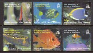 British Indian Ocean Terr. 2002 Reef Fish set fine fresh MNH