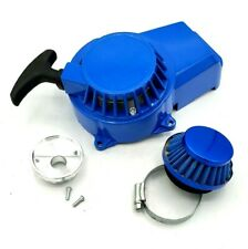 47cc 49cc Pull Starter Recoil Air Filter Velocity Stack Pocket Mini Bike ATV Blu