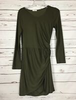 Boutique 12PM By Mon Ami Green Fall Holiday Career Party Dress ~ Women's S Small