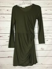 12PM By Mon Ami Boutique Solid Green Fall Holiday Career Dress ~ Women's S Small