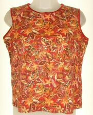Women's large mulit-color print sleeveless top (Christopher & Banks)