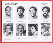 1972  CAROLINA COUGARS  TEAM ISSUED  8 X 10  GLOSSY   COMPOSITE