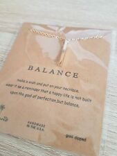 Dogeared BALANCE Necklace Charm Gold Dipped with chain UK SELLER