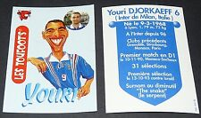 YOURI DJORKAEFF INTER VACHE QUI RIT TOUFOOT'S FOOTBALL FRANCE 98 1998 PANINI