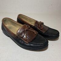 Allen Edmonds Nottingham Black Brown Loafer Shoe Size 10D
