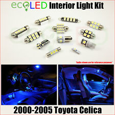 Fits 2000-2005 Toyota Celica BLUE LED Interior Light Replacement Package Kit 6PC