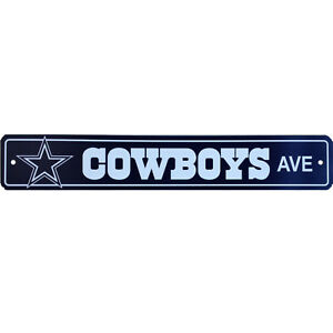 Dallas Cowboys NFL Football Street Sign Ave 4 x 24