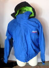 Vintage Nautica Competition Blue Neon Green Hooded Ski Jacket Nautex Medium