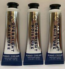 3 Bath & Body Works Hand Cream Overnight Moisture Travel Size New