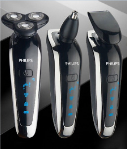 Philips electric shaver rechargeable 3-blade metal shell fine-tuning function