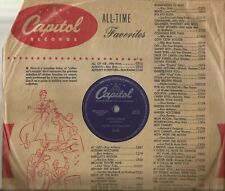 78 Rpm Record Les Paul and Mary ford Hummingbird / Goodbye My Love NEAR MINT