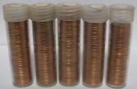 Five Penny Rolls - 1980 Lincoln Memorial Cents - Uncirculated Philadelphia JR857