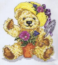 Loveable Bears Green Fingers Cross Stitch Kit DMC K4120