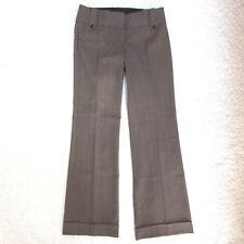 Stoosh Women's Junior's Size 7 Brown Striped Dress Pants Career Wide Leg