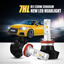2x H11 200W PHILIPS LED Headlight Fog Lamp Kit High Power 4WD Car H8 H9 Lumileds