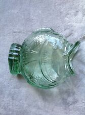 Vintage Moulded Glass Fish Vase