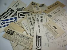 VINTAGE AIRFIX & KITMASTER INSTRUCTION SHEETS Model Railway 1960s/70s Selection