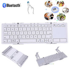 Metal Foldable Folding Wireless Mini Bluetooth 3.0 Keyboard For iPhone PC Tablet