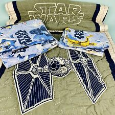 Pottery Barn Kids Star Wars Twin Sheet 6 Pieces Fitted Flat 2 Pillowcase 2 Shams