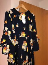 Warehouse BNWT Size 16 Navy/Floral Detail Dress
