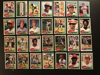 1981 Topps CINCINNATI Reds COMPLETE Team SET Johnny BENCH Tom SEAVER Concepcion