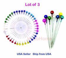 Lot of 4 Islamic Straight Hijab Pins Head Scarf Pin 8 Colors Small Size 160 pins