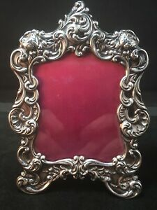 Gorham Sterling Silver Picture Frame 3 5/8 By 5 Inches Roses