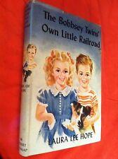 vtg THE BOBBSEY TWINS OWN A LITTLE RAILROAD book By LAURA LEE HOPE HARDBACK W/DJ