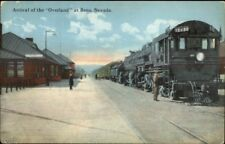 RR Train at Depot Station Reno NV c1915 Postcard