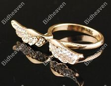 16mm Fashion Exquisite Rhinestone Angel Wings Finger Ring fr Women Girls Jewelry