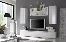Mobile parete soggiorno Primo G cucina lucido bianco o peltro porta tv moderno