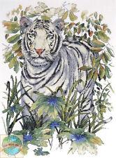 Juego de Punto Cruz ~ Design Works Tigre Blanco en Selva Close Up Retrato