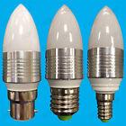10x 3W LED Ultra Bassa Energia, Bianco Caldo Lampadine A Candela B22, E27 o E14