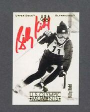 Billy Kidd signed 1996 Upper Deck Olympic trading card