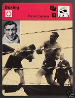 PRIMO CARNERA vs Hans Schoenrath Italy Boxer Boxing 1978 SPORTSCASTER CARD 26-21