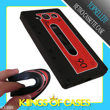Samsung Galaxy S3 Silikon Case Hülle Schutzhülle Retro Tape Black & Red