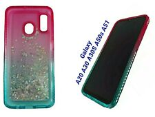 Samsung Galaxy A20 A30 A30S A50s A51 Case Liquid Glitter Cover + Tempered Glass