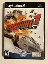 Burnout 3: Takedown (PlayStation 2, 2004) PS2 Complete BLACK LABEL-FAST SHIPPING