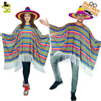 Adult Men's Mexican Cloak Costumes for Carnival Party  Mexican Cape