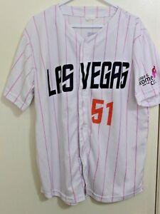 Las Vegas 51 Minor League Baseball Jersey Shirt XL k Mets NY Breast Cancer