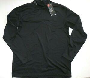 Under Armour New Coldgear Armour Mock Long Sleeve Shirt Men's M Black