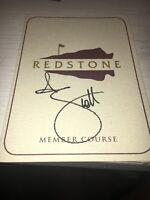 Adam Scott 2007 Shell Houston Open Signed Redstone Scorecard COA