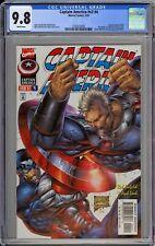 Captain America #v2 #4 CGC 9.8 NM/MT Wp Vs. Cable Marvel Comics 1997 Liefeld Art