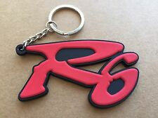 motorcycle keychain Rubber Yamaha R6 Logo Red & Black
